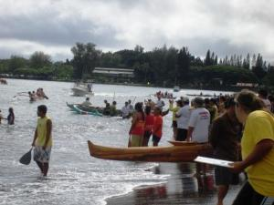 Watching Hawaii Outrigger Races